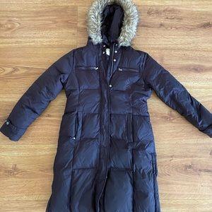 Chocolate brown Michael Kors puffy jacket